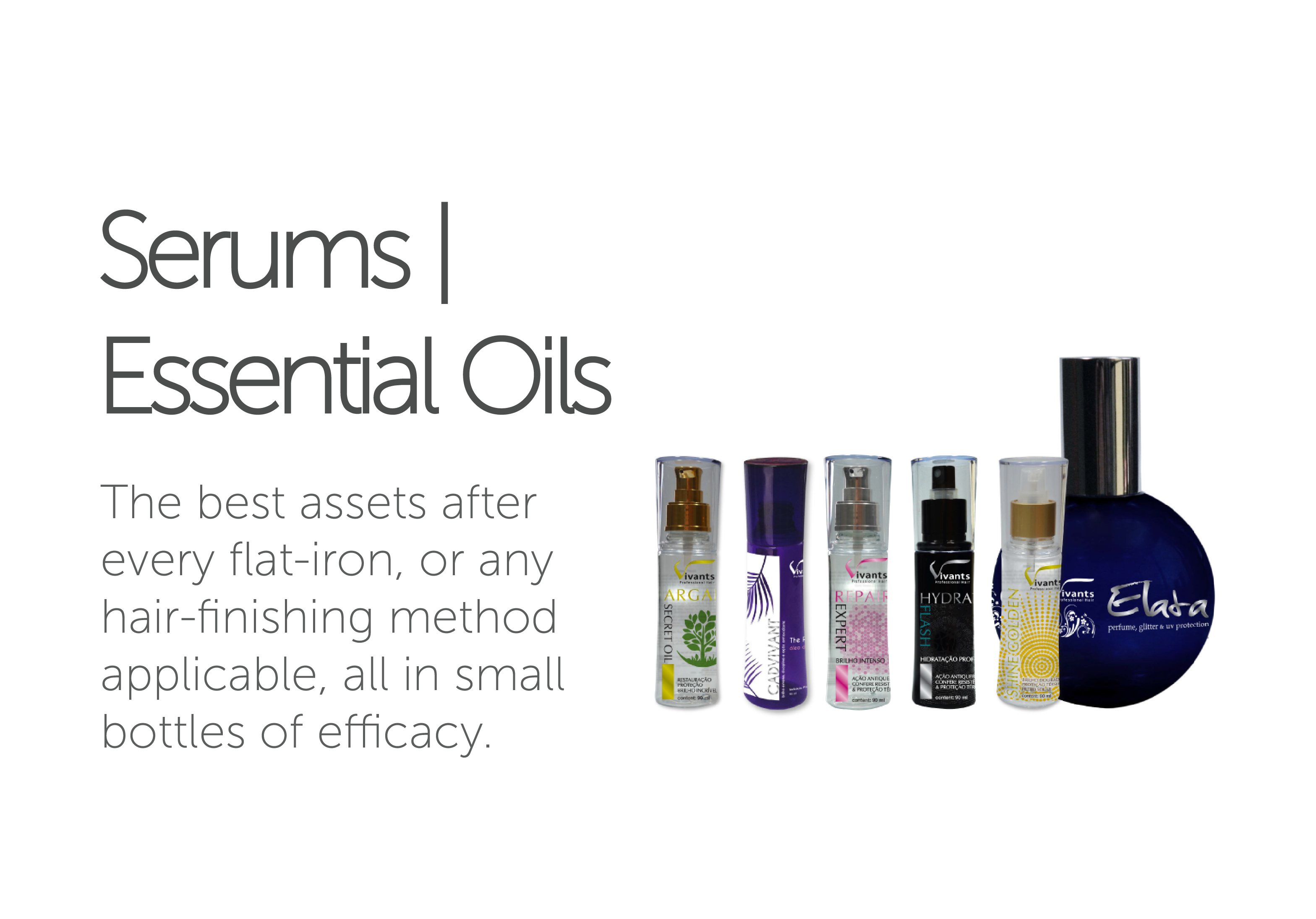 Serums | Essential Oils Vivants Professional Hair's line of Serums and Essential Oils.